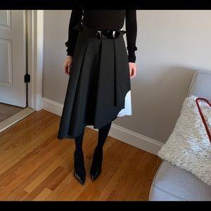 ASOS black and white high low skirt